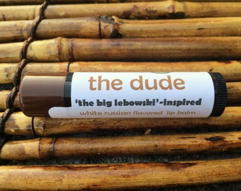 The Dude lip balm - Big Lebowski-inspired White Russian flavored lip balm - coffee liqueur and vanilla flavored lip balm  -