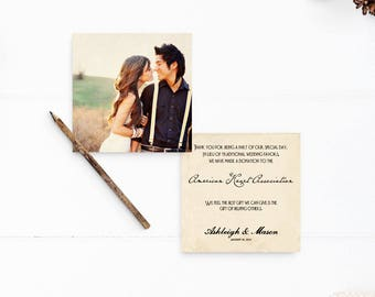 """50 Wedding Favor Donation Cards, In lieu of Favors, Donation cards - the """"Ashleigh"""""""