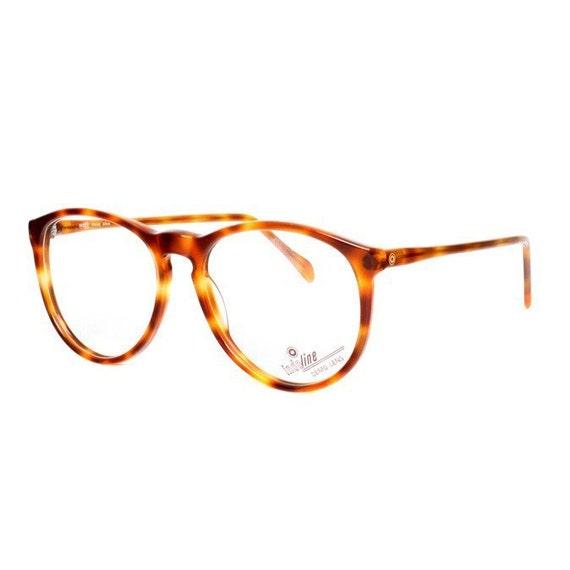 2704e2d6da 80  39 s brown tortoise panto glasses vintage lightweight. Vintage Round  Metal Tortoise Shell ...