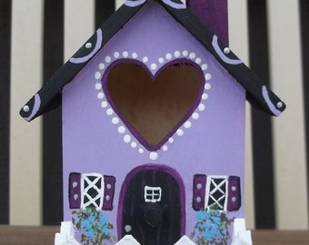 Small Lavender Birdhouse # 246