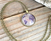 Globe Pendant Necklace or Keychain Map World Travel Wanderlust Gift for Traveler Earth Nation