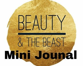 Beauty and the Beast Inspired Mini Journal