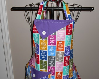 Keep Calm and Quilt/Sew Women's Apron