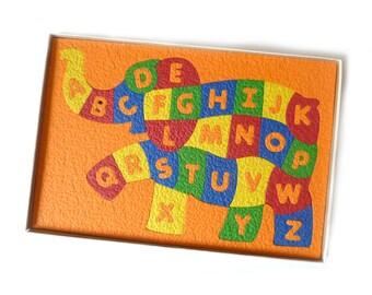 Vintage Children's Alphabet Puzzle ... Crepe Rubber Alphabetephant, Lauri Teaching Toys, Ages 4 to 7, Foam Learning Puzzle, Educational