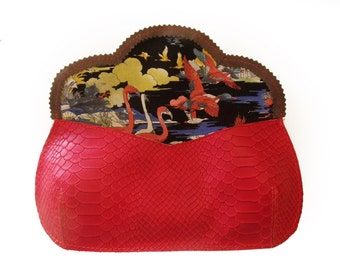 SALE Red handbag for christmas, The perfect Christmas gift, Women's red purse, women's wallet, red handbag, horse purse