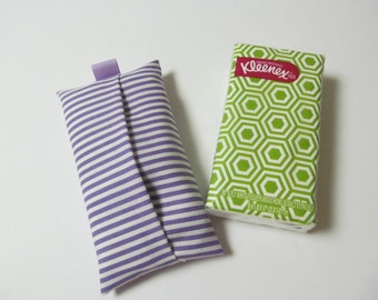 Tissue Case/Lavender Stripe