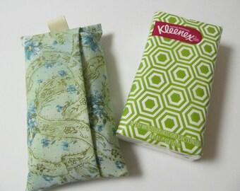 Tissue Cse/Turquoise Flower