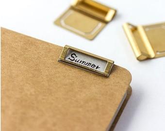 6 Pcs Metal Paper Clip Paper Pin Clip Planner Clip