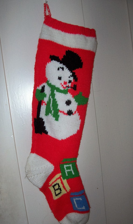 Personalized Wool Christmas Stockings
