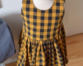 Buffalo check summer dress/tunic for a girl