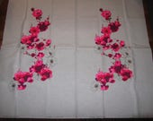 """ALFRED SHAHEEN Vintage Hand Printed Floral Panel Fabric 53"""" x 45"""""""