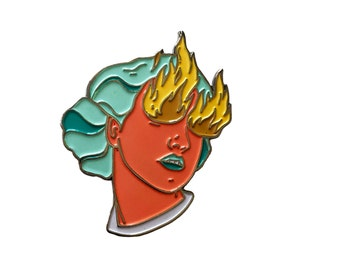 Enamel Pin: Fire Eye Girl