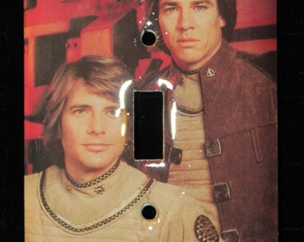 Battlestar Galactica Starbuck and Apollo Benedict Hatch Switch Plate Wallplate Light Cover