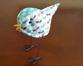 fabric stuffed birds cake toppers farmhouse decor quilting material birdies