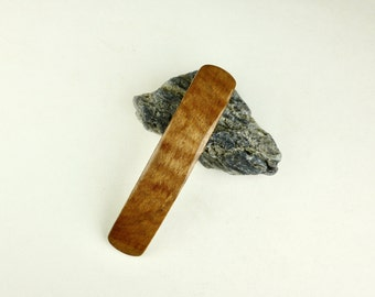 Wood Hair Barrette - Exotic Pyinma - Hair Accessory - Made in France clip