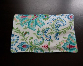 Rice Heating Pad / Ice Pack, 5 X 8 Blue Floral