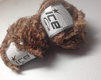 Brown Novelty Yarn, Ice Yarns from Turkey, Bulky Weight Microfiber, Knitting Supplies, Crochet Notions, Y209