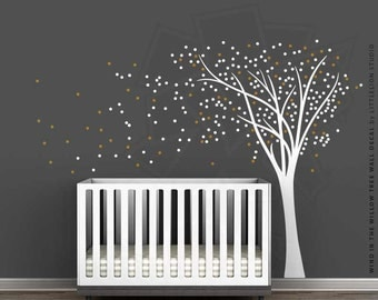 Wind in the Willow Tree Wall Decal by LittleLion Studio: Modern Baby Nursery Tree Wall Decal