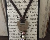 Vintage Key Necklace | Hand Stamped Key Necklace | Giving Key | Word Necklace | Wire Wrapped Jewelry | Affirmation Jewelry | ANGEL