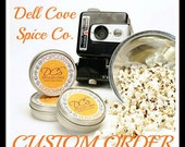 Set of 8 tins popcorn seasoning gift set