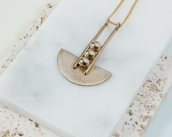 Bronze Metropolis Necklace