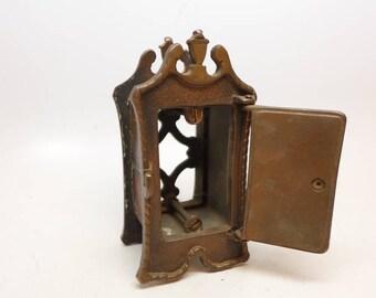 Vintage Speakeasy Door Grill with Peephole and Door Knocker - Vintage Peephole - Vintage Door Knocker - Speakeasy - Ships Peephole