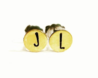 Initial Earrings, Choose your letters, Custom Personalized Earrings