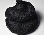 Black hole  - Merino/BabyCamel Lace Yarn - LIMITED EDITION