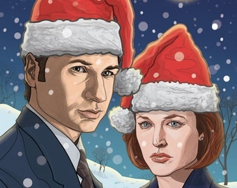 X-FILES Christmas card