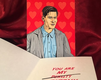 BACK to the FUTURE Valentine's Day card
