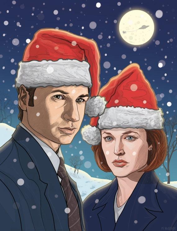 X-FILES Christmas card