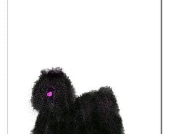 Puli Dog Illustration-Pop Art Print