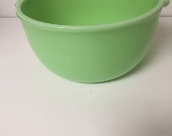 Vintage Green Glass Mixing Bowl Celadon Mint Sunbeam