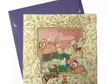 Persian painting postcards/original Persian miniature cards/original Persian painting/postcards/orient lover gift/greeting cards