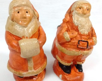 c1940s-50s Santa Mrs Clause Salt & Pepper Shakers St. Nicholas