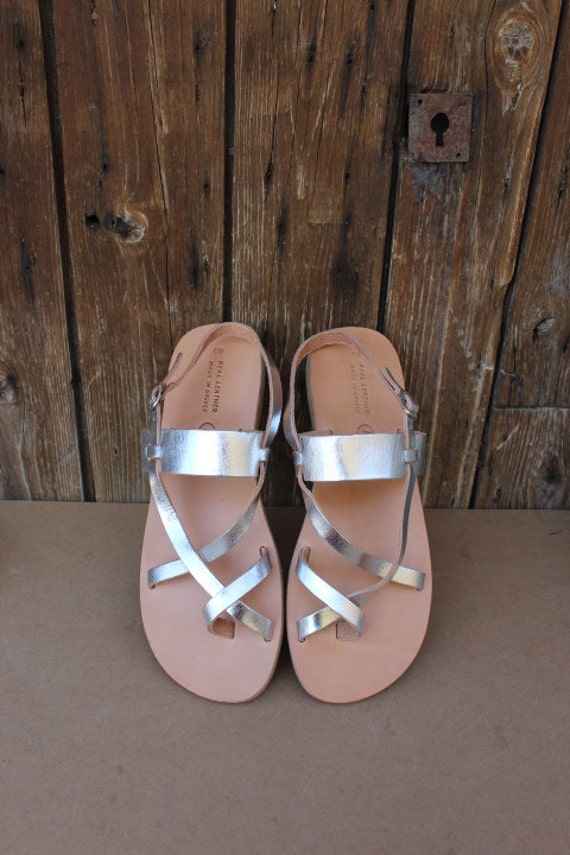 SALE! Greek sandals, Women's sandals, leather gladiator , silver sandals, Gladiator Sandals, ,Greek  sandals, sizes 40-45