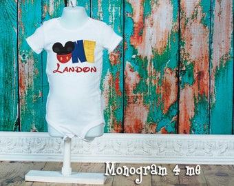 Mickey Mouse birthday shirt bodysuit - 1st Birthday  - Disney Shirt - First Birthday
