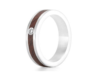 Native Diamond - Wood Engagement Ring UK