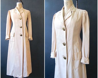 COAT TALES Edwardian Duster Coat | 1900 - 1910 Cotton Motoring Coat | Driving Jacket | Steampunk, Antique, Vintage, Victorian | Size Small
