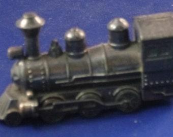 Vintage Train with Back Door Metal Diecast Pencil Sharpener, 1970s