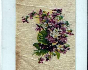 Vintage Wood Violets (15) Cigarette Tobacco Silk, early 1900s