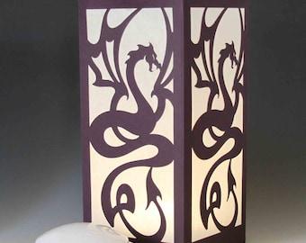 Dragon Laser cut Luminary Table Lamp Centerpiece - #80