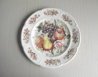 Windsor Fruit Windsor Ware Plate by Johnson Brothers | Decorative Fruit Lunch Plate | Vintage Wall Decor