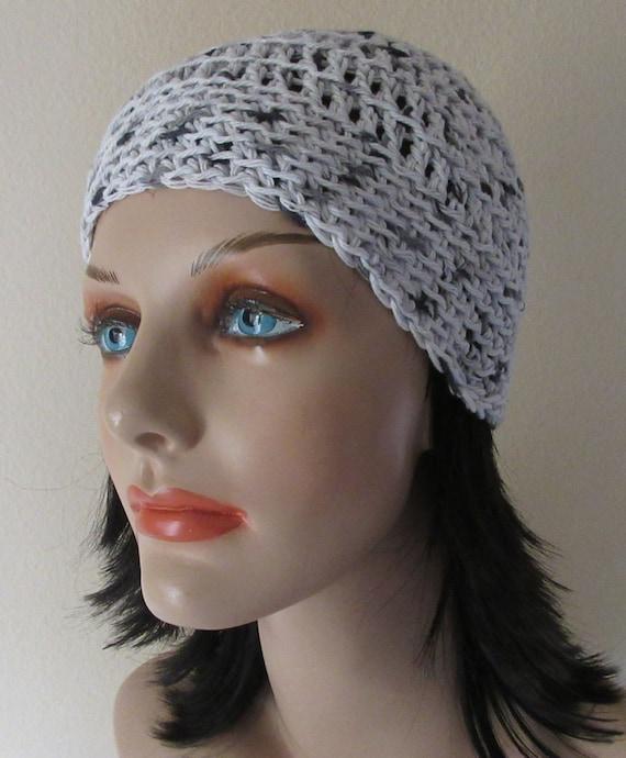 White Black Grey Cotton Beanie Warm Weather Accessory Summer Hat