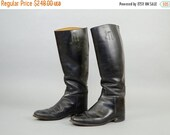 BLACK FRIDAY Equestrian DRESSAGE Black Leather Boots Us 9