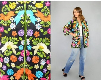 MAY SALE 60's Embroidered Floral Jacket