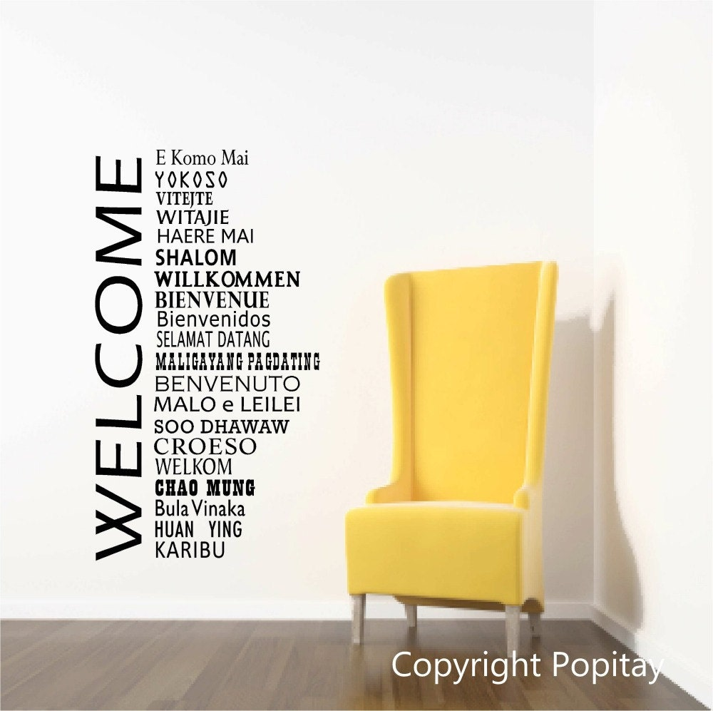 Welcome Wall Decor welcome wall decals international office welcome decor