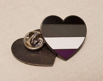 ACE Asexual Flag Heart - Pride Enamel Pin