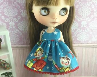 Blythe Dress - Retro Space Kids