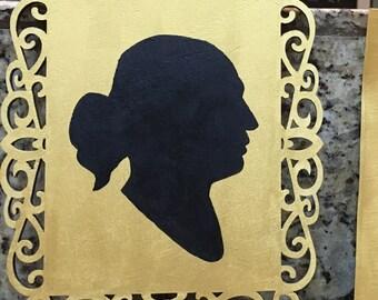 Hamilton Themed Portraits 4x6 (YOUR Silhouette in Hamilton colors!)